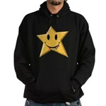 Smiley Juicy Rainbow Star Hoodie (dark)