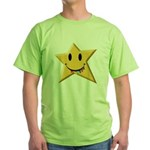 Smiley Juicy Rainbow Star Green T-Shirt