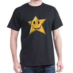 Smiley Juicy Rainbow Star Dark T-Shirt