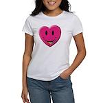 Smiley Juicy Rainbow Heart Women's T-Shirt