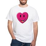 Smiley Juicy Rainbow Heart White T-Shirt