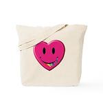 Smiley Juicy Rainbow Heart Tote Bag