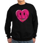 Smiley Juicy Rainbow Heart Sweatshirt (dark)