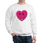 Smiley Juicy Rainbow Heart Sweatshirt