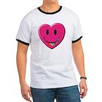 Smiley Juicy Rainbow Heart Ringer T