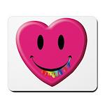 Smiley Juicy Rainbow Heart Mousepad