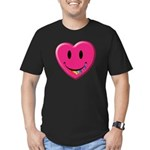 Smiley Juicy Rainbow Heart Men's Fitted T-Shirt (d