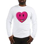Smiley Juicy Rainbow Heart Long Sleeve T-Shirt