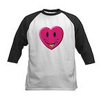 Smiley Juicy Rainbow Heart Kids Baseball Jersey