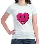 Smiley Juicy Rainbow Heart Jr. Ringer T-Shirt