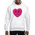 Smiley Juicy Rainbow Heart Hooded Sweatshirt