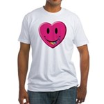 Smiley Juicy Rainbow Heart Fitted T-Shirt