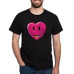 Smiley Juicy Rainbow Heart Dark T-Shirt