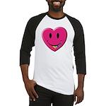 Smiley Juicy Rainbow Heart Baseball Jersey