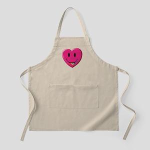 Smiley Juicy Rainbow Heart BBQ Apron