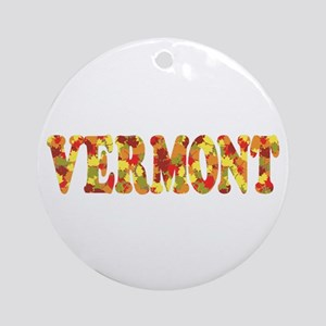 Autumn in Vermont Ornament (Round)