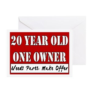 20 Years Old Greeting Cards