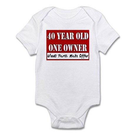 40th Birthday Infant Bodysuit
