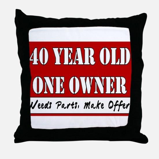 40th Birthday Throw Pillow