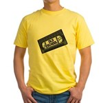 Old School VHS Tape Yellow T-Shirt