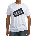 Old School VHS Tape Fitted T-Shirt