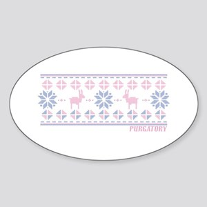 Purgatory Fireside Sweater Sticker (Oval)