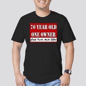 70th Birthday Men's Fitted T-Shirt (dark)