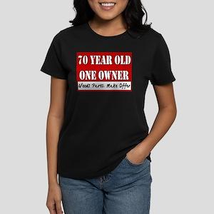 70th Birthday Women's Dark T-Shirt