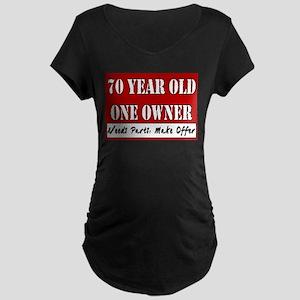 70th Birthday Maternity Dark T-Shirt