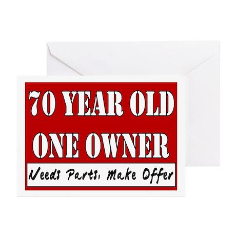 70th Birthday Greeting Cards Pk Of 10 By Catndog