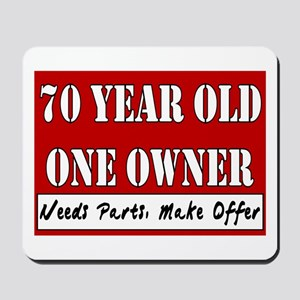 70th Birthday Mousepad