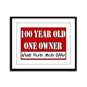 100th Birthday Framed Panel Print