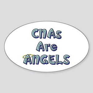 CNAs Are Angels Oval Sticker
