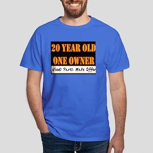 20th Birthday Dark T Shirt