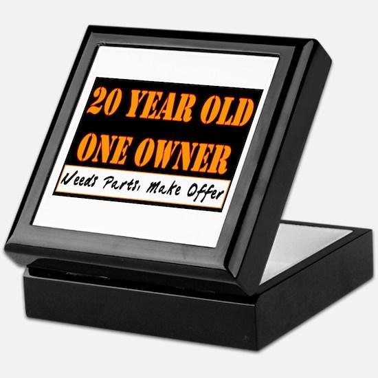 20th Birthday Keepsake Box