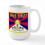 Free Tibet / Save Tibet Large Mug