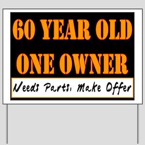 60th Birthday Yard Sign