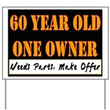 60th birthday Yard Signs