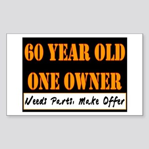 60th Birthday Rectangle Sticker