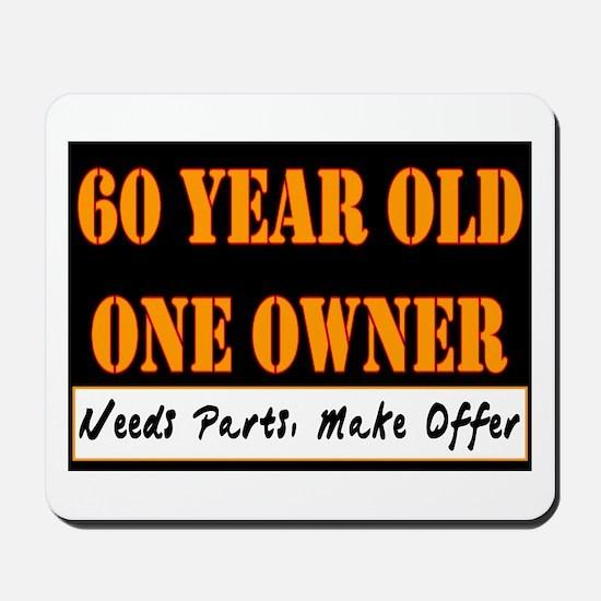 60th Birthday Mousepad