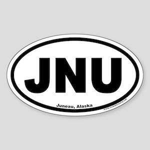 Juneau Alaska JNU Euro Oval Sticker