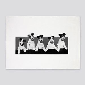 Jack Russell Terriers 5'x7'Area Rug