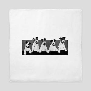 Jack Russell Terriers Queen Duvet