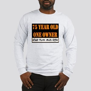 75th Birthday Long Sleeve T Shirt