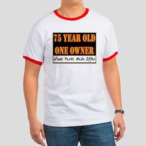 75th Birthday Ringer T