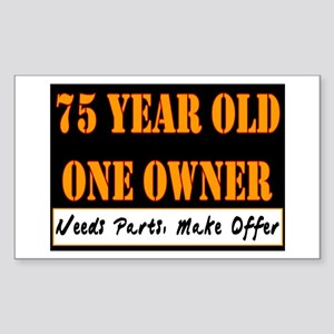 75th Birthday Rectangle Sticker
