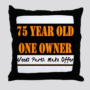 75th Birthday Throw Pillow