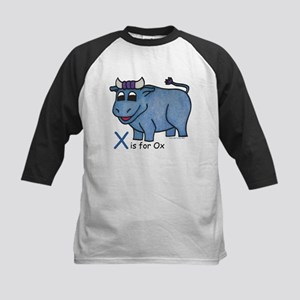 X is for Ox Kids Baseball Jersey