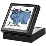 Babe babe blue ox Square Keepsake Boxes