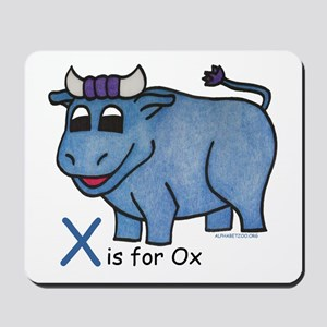 X is for Ox Mousepad